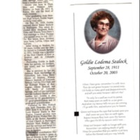 Obituary for Goldie Sealock